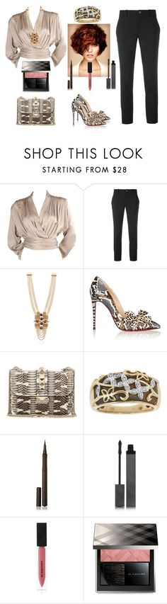 """""""Untitled #447 #snakeskin shoes and handbag"""" by vintagelady52 ❤ liked on Polyvore featuring Yves Saint Laurent, Gucci, Lucia Odescalchi, Christian Louboutin, Valentino and Burberry"""