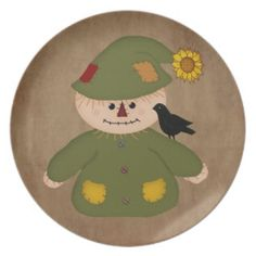 Country Scarecrow Plate by MousefArt.Com (Mouse Country Store)