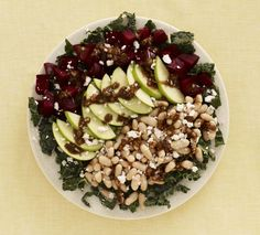 Roasted Beet, Apple and White Bean Salad #FamilyCircleHealthyFamilyDinners #vegetarian #salad #healthy