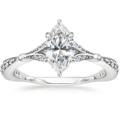 18K White Gold Zinnia Diamond Ring (1/3 ct. tw.) from Brilliant Earth