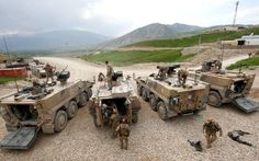 3 German Army APC Boxer and 1 APC Fuchs in Afghanistan, 2013