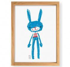 Pablo the rabbit Wall Art - Monoblock