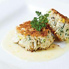 A Taste of Charleston | Sweet Corn, Leek, and Basil Crab Cakes