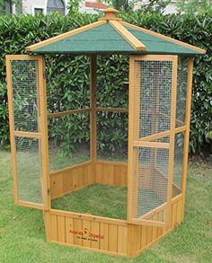 Details about Pets Imperial® Large Wooden Hexagonal Bird Aviary Cage Birds Parrot Canary Big Bird Cage, Large Bird Cages, Parrot Pet, Parrot Toys, Chicken Cages, Diy Chicken Coop, Bird Cages For Sale, Cages For Birds, Do It Yourself Decoration