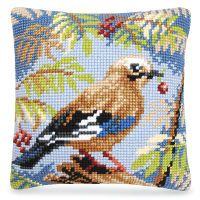 Brown Bird in a Tree Pillow Top