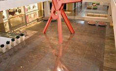 Polished Concrete floors - Bomanite Polished Stained Concrete, Concrete Floors, Interior Ideas, Modern Interior, Floor Design, House Design, Polished Cement, Exposed Brick, Basement Ideas