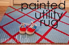 Painted Rug Tutorial from vixenmade