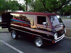 Old School Dodge Van. Dodge Van, Chevy Van, Vintage Vans, Vintage Trucks, Volkswagen, Pick Up, Old Dodge Trucks, Dodge Pickup, Pickup Trucks