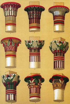 'Ancient Egyptian Ornament' from 'The Grammar of Ornament' by Owen Jones, published in 1856.