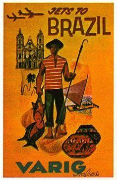 Vintage Posters : Companhias aéreas Brasil | Webkits Modelismo