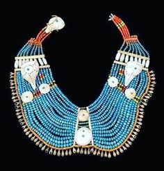 """""""Blue beaded pectoral necklace from the Naga people. Nagaland is a remote mountainous region located…"""""""