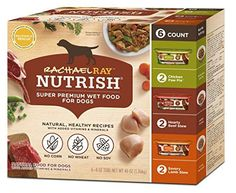 Rachael Ray Nutrish Natural Wet Dog Food, Grain Free, Single Pack of 6 - Tubs: Rachael Ray Nutrish Wet Food for Dogs Variety Pack contains 3 different flavors of our natural wet dog food: Hearty Beef Stew, Chicken Paw Pie, and Savory Lamb Stew. Healthy Chicken Recipes, Dog Food Recipes, Dog Storage, Hearty Beef Stew, Lamb Stew, Dog Varieties, Wet Dog Food, Grain Foods, Types Of Food