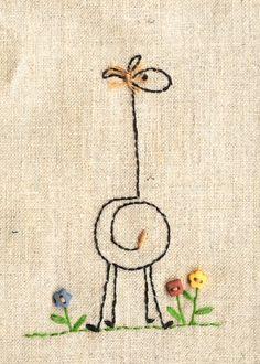 Girafe au point droit