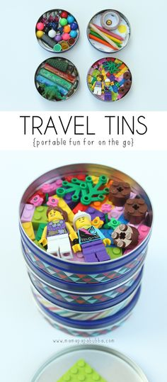 Travel Tins | car activities for kids :: travelling with kids :: busy bag ideas