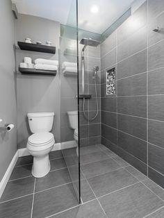 Gray Tile Bathroom Floor For Small Bathroom - Grey and White Bathroom Ideas Badezimmer Badezimmer dusche Badezimmer fliesen