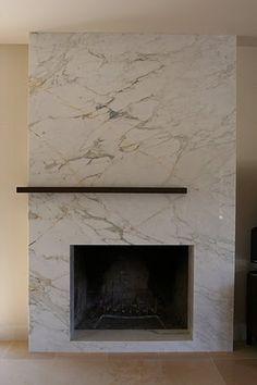 calcutta marble fireplace - Google Search