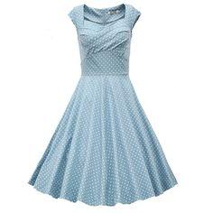 Light Blue Polka Dot Vintage Dress @gabriellawj