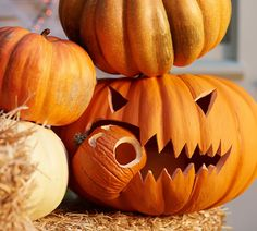 Fun idea for pumpkin carving. #potterybarn
