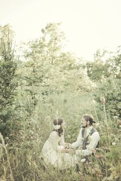 Stealing a moment away during your wedding, amongst the flowers. Style: Rustic. Moods: Whimsical, Natural, Casual.