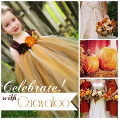 Fall Wedding Flower Girl Tutu Dress and Other Great Ideas by Guavaloo  #fall #Autumn #wedding #ideas #flower #girl #tutu #dress #guavaloo