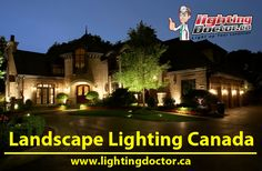 Our landscape lighting can completely deliver what you're looking for. One great benefit of landscape lighting is to provide calm, something place to relax after a long day at work. Landscape Lighting Kits, Backyard Patio, Light Up, Benefit, Relax, Calm, Canada, Mansions, House Styles