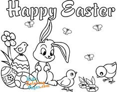 Picture to color easter bunny to print - Kids Coloring Pages Easter Colouring, Coloring For Kids, Coloring Pages For Kids, Happy Easter, Easter Bunny, To Color, Kids Prints, Colorful Pictures, Printable
