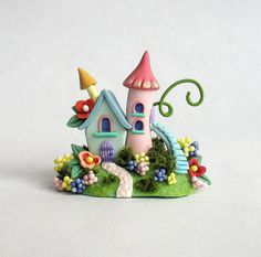 Miniature  Charming Fairy  Whimsy House with by ArtisticSpirit