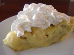 No bake banana cream pie.