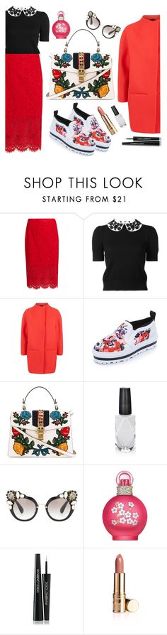 """Untitled #225"" by ivanov1234491 ❤ liked on Polyvore featuring Diane Von Furstenberg, Alice + Olivia, Jaeger, MSGM, Gucci, Azature, Miu Miu, Britney Spears and Dolce&Gabbana"