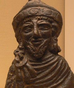 Copper-alloy steelyard weight. Thought to be a portrait bust of the Emperor Phocas (from the British Museum)