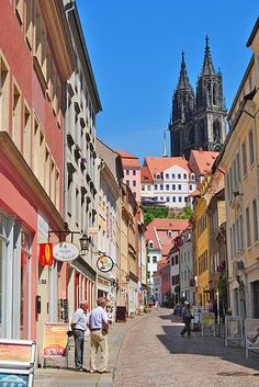 Meissen, Germany...I climbed to the top of the cathedral you see there!