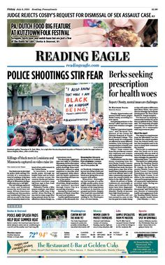 Today's front page. July 8, 2016.