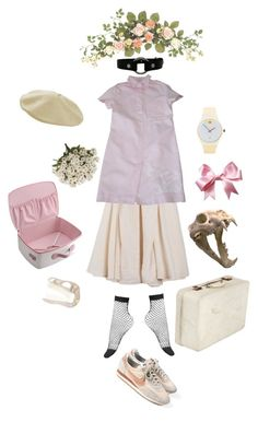 """""""Taxidermy baby. Soundtrack: Nicole Dollanganger"""" by megdrew ❤ liked on Polyvore featuring BLACK CRANE, Pineider and JC de Castelbajac"""