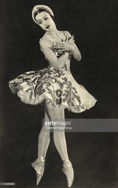 Tamara Toumanova 1919 - 1996 Russian ballerina and actress From the book Footnotes to The Ballet published 1938