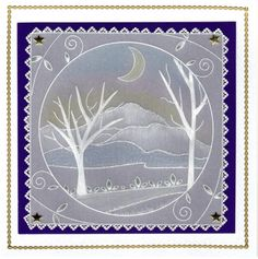 Margaret Atkinson | docrafts.com Fall Cards, Christmas Cards, Clarity Card, Parchment Design, Paper Art, Paper Crafts, Parchment Cards, Handmade Stamps, Card Patterns