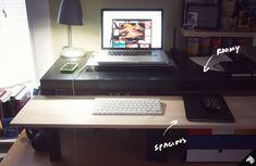 My DIY Standing Desk—The $22/$31 IKEA Hack — Imaginary Zebra™ // IZ™
