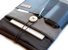 Notebooktaschen - IPAD-Hülle Organizada N°1 mit Leder und 4x Fächer! - ein Designerstück von Chiquita-Jo bei DaWanda