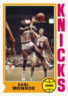 Earl Monroe New York Knicks Basketball History, Basketball Legends, Basketball Cards, Kobe Bryant Nba, Nba Los Angeles, I Love Nyc, Celebrity Caricatures, Indiana Pacers, Larry Bird