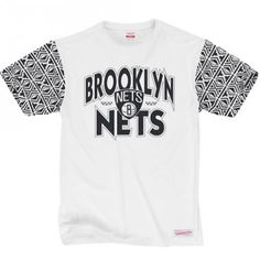 T-Shirt Mitchell & Ness NBA Brooklyn Nets blanc