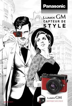 Panasonic fait la pub de son appareil photo Lumix GM5… sans photo. Joli boulot d'illustration