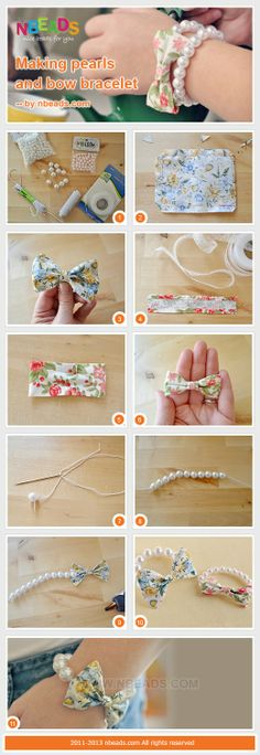 Making Pearls And Bow Bracelet – Nbeads