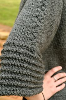 Scarlett's Cardi, Sleeve detail.
