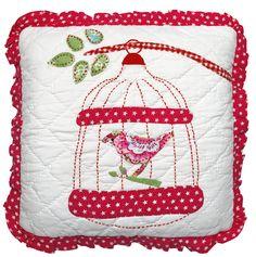 Kussen Birdcage Red 40x40