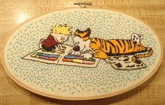 I love Calvin and Hobbes and so does my dad. May have to do this for his birthday at the end of July.