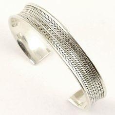 "Leaf .925 Sterling Silver Cuff Bracelet Silverinvasion Jewelry. $79.95. Genuine .925 Sterling Silver cuff bracelet. Weight: 26 Grams. Length : 7 "" ( 18. cm ) /adjustable /. Width : 1/2 "" ( 13 mm ). Save 11%!"