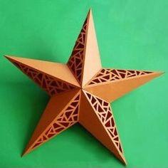 Veja aqui um passo a passo especial sobre como fazer uma linda estrela de papel decorada