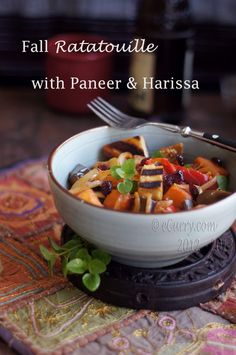 Fall Ratatouille with Paneer and Harissa