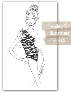 Fabulous Doodles Fashion Illustration blog by Brooke Hagel: Tuesday Tip: Illustrating Zebra