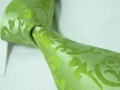 Amazon.com: New Men's Green Paisley 100% Silk Neck Tie 77G: Clothing