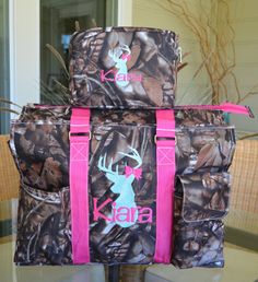 Hey, I found this really awesome Etsy listing at https://www.etsy.com/listing/238419684/camo-tote-orange-pink-straps-diaper-bag